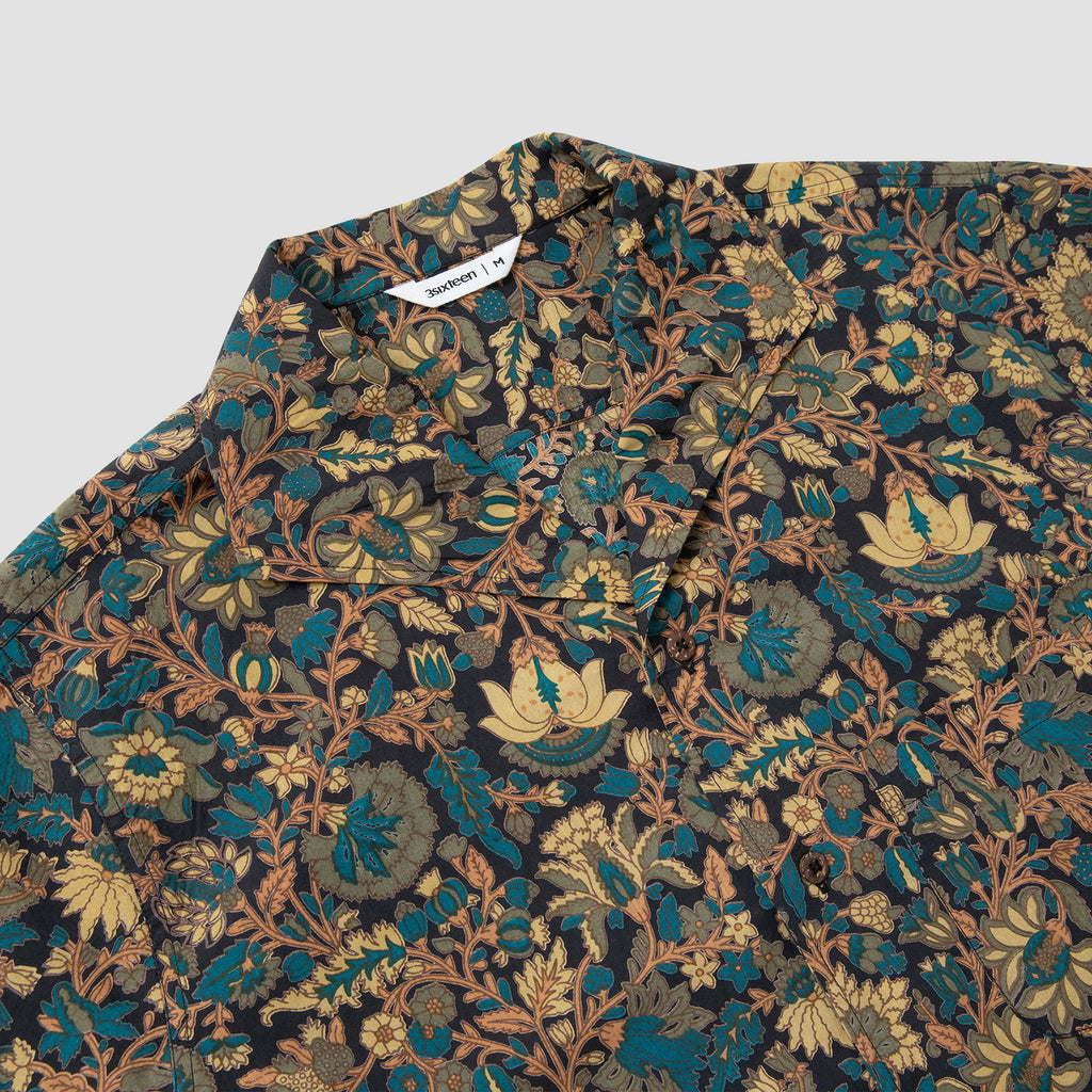 3sixteen Floral Leisure Shirt Black