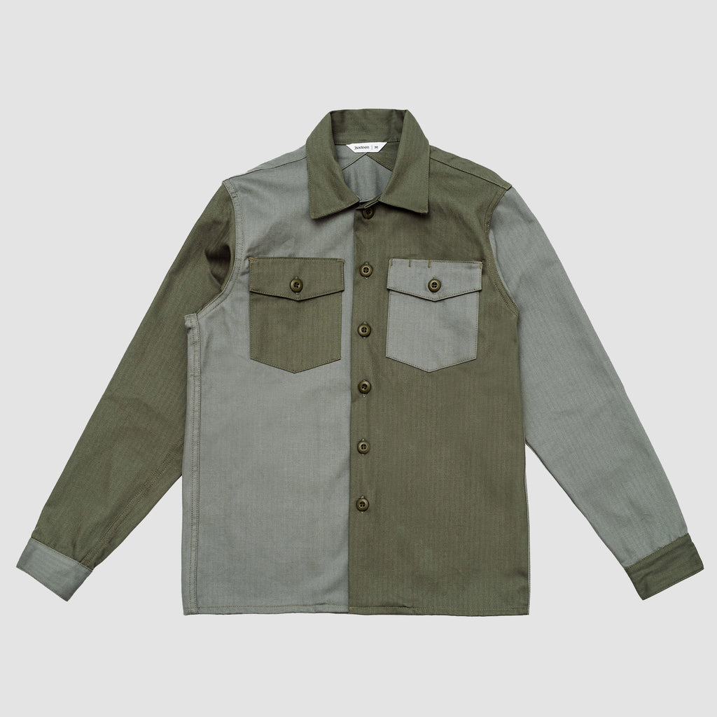 3sixteen Fatigue Overshirt Olive Block