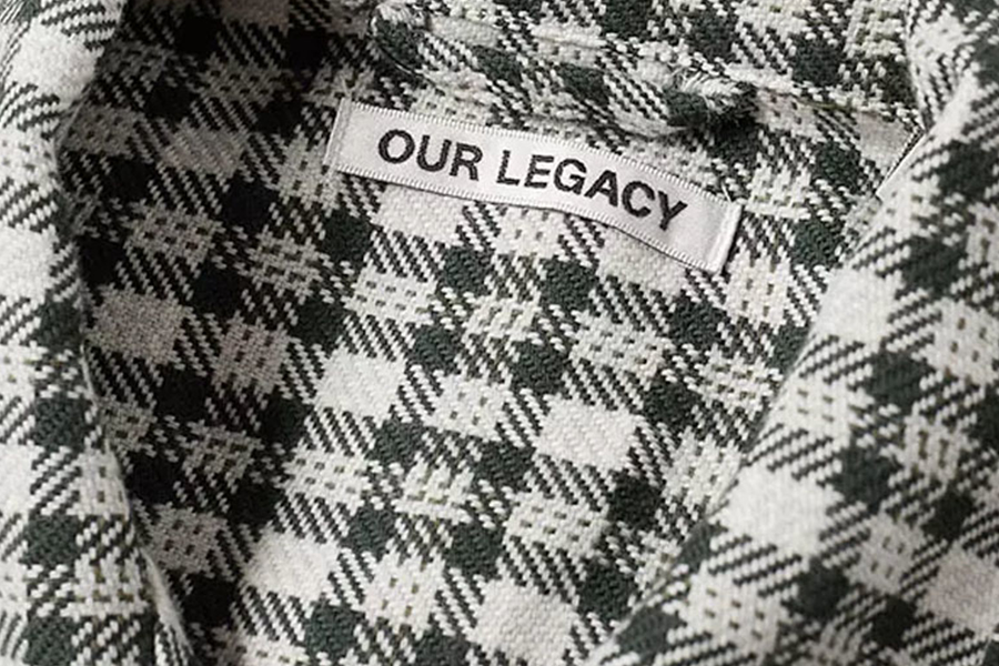 OUR LEGACY BOX SHIRT - GREEN SHADOW CLOTH CHECK