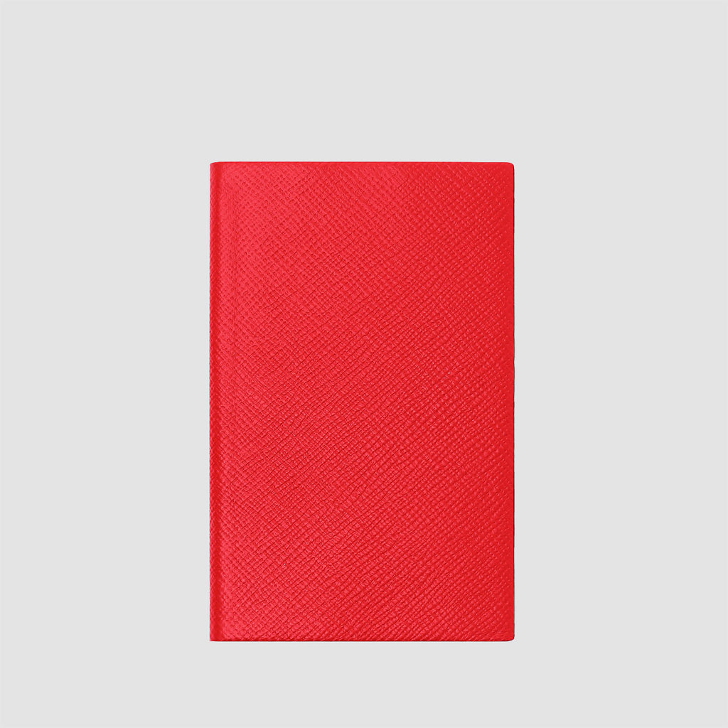 Smythson Panama Notebook Scarlet Red