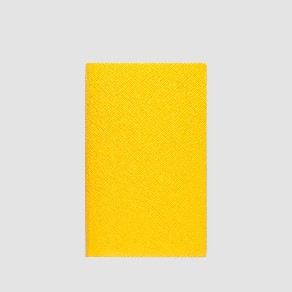 Smythson Panama Notebook Lemon