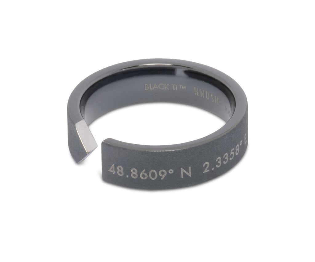 Paris Black Titanium™ Matte Ring