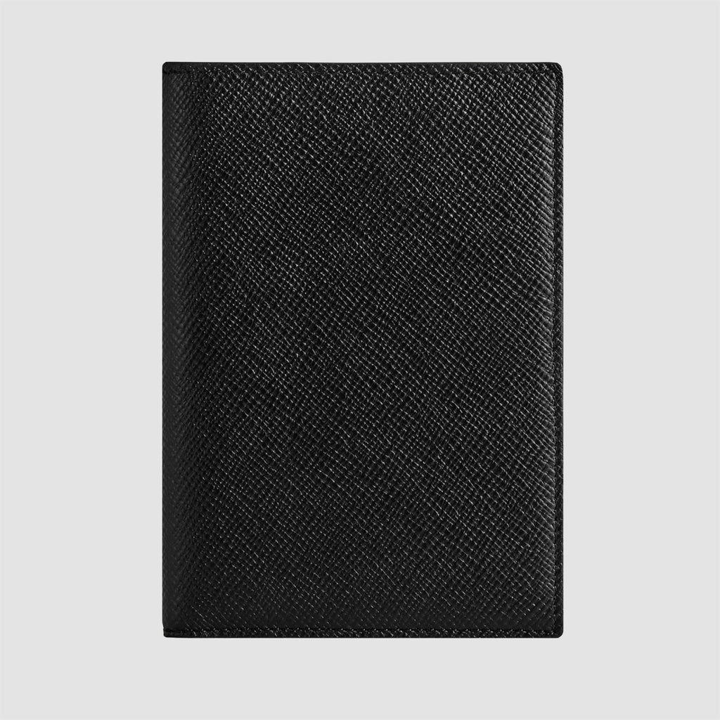 Smythson Panama Passport Cover Black