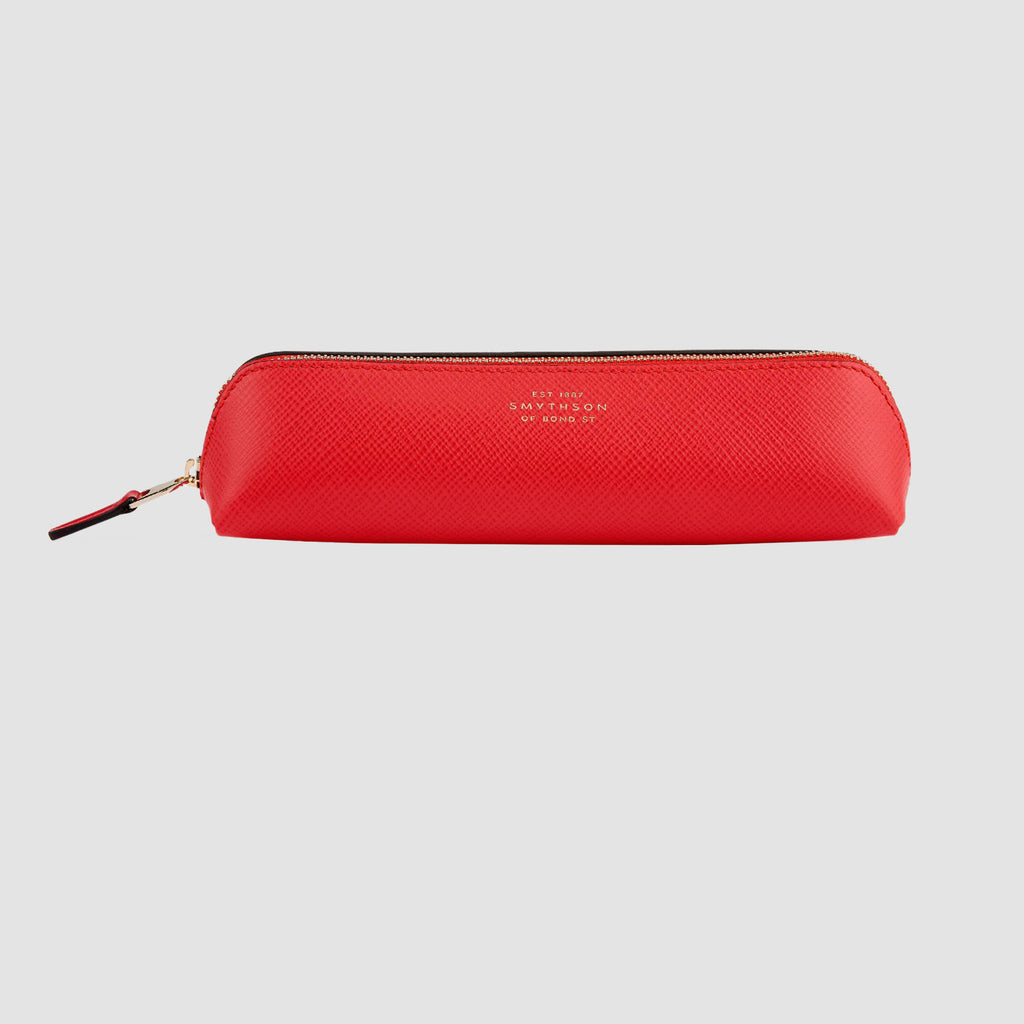 Smythson Panama Pencil Case Scarlet Red
