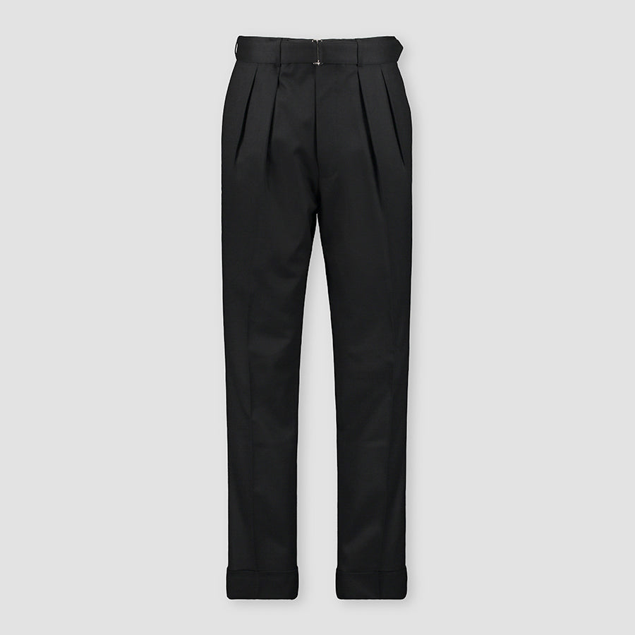 Officine Générale Pierre Pants Italian Flannel Black