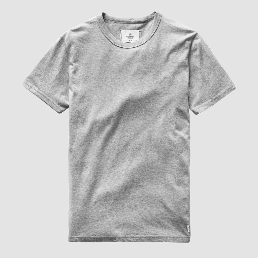Reigning Champ Pima Jersey T-Shirt Heather Grey