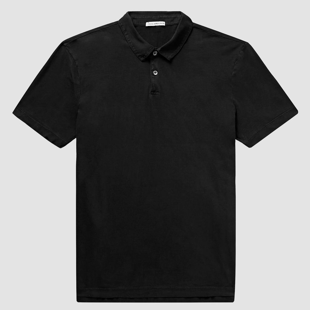 James Perse Sueded Jersey Polo Negro