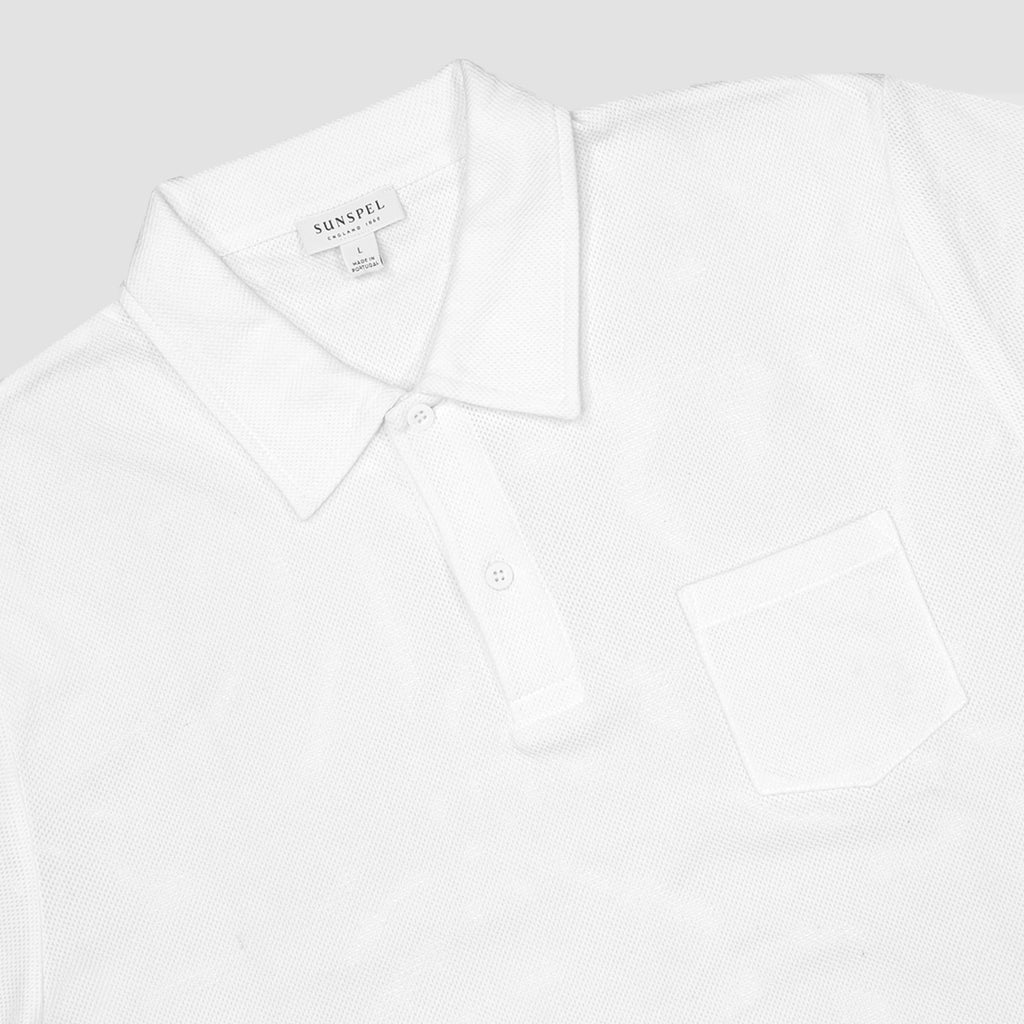 James Perse Sueded Jersey Polo Blanco