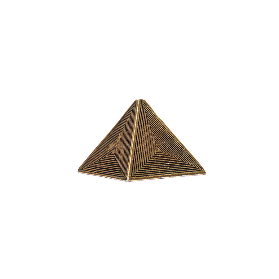 Brass Pyramid Metal: porta incienso