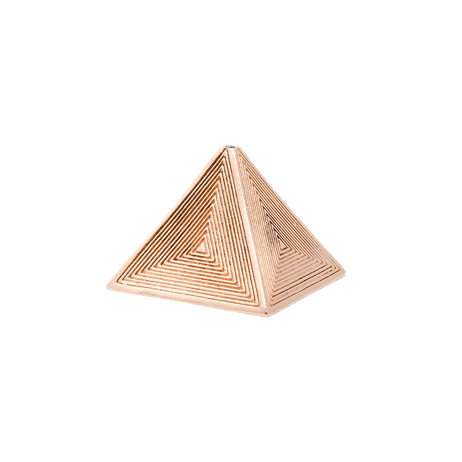 MAAPS Pyramid Metal Incense Holder color Rose Gold