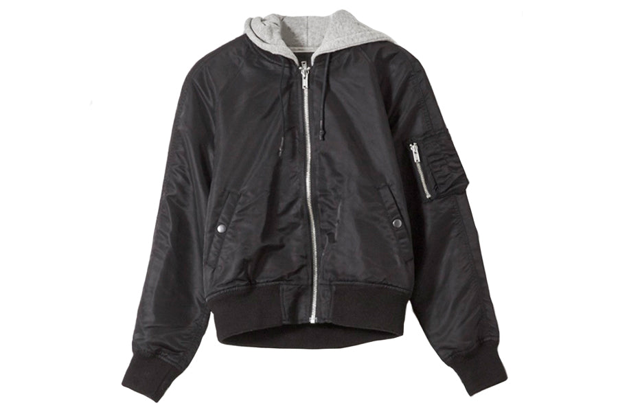 R13 Hodded Flight Jacket