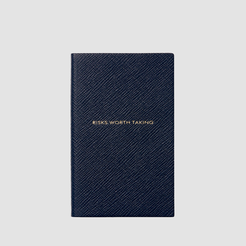 Smythson Risks Worth Taking Panama Notebook Navy