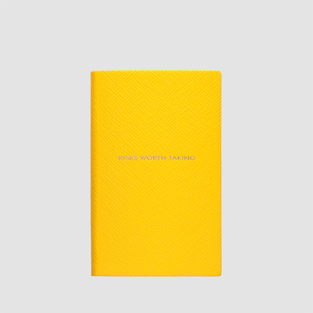 Smythson Risks Worth Taking Panama Notebook Lemon