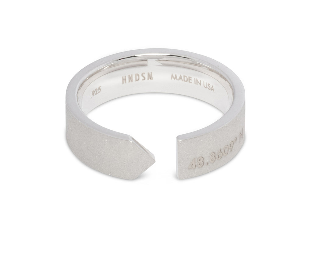 Paris Sterling Silver Matte Ring