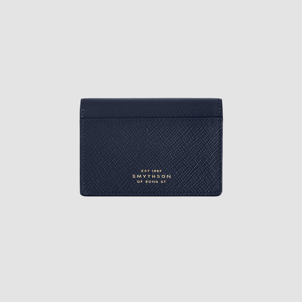 Smythson Panama Business and Credit Card Case Navy