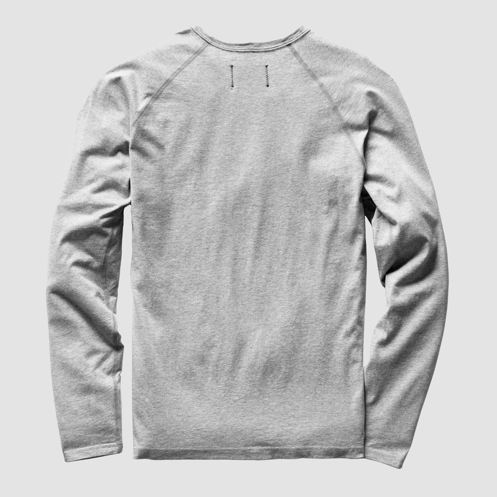 Reigning Champ Pima Jersey Long Sleeve T-Shirt Heather Grey