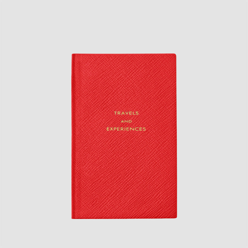Smythson Travels and Experiences Panama Notebook Scarlet Red
