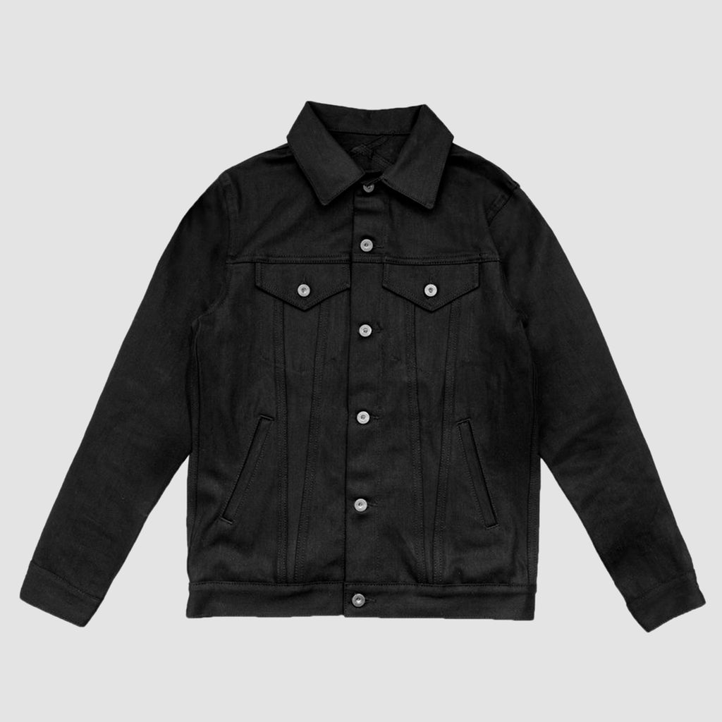 3Sixteen Type 3s Raw Denim Jacket Double Black