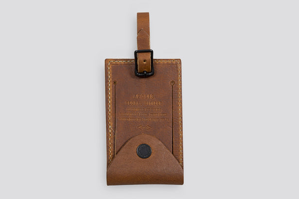 Apolis Transit Issue Luggage Tag Tan