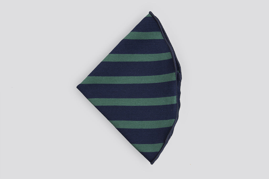 Alexander Olch Pocket Round Stripes Navy/Turquoise