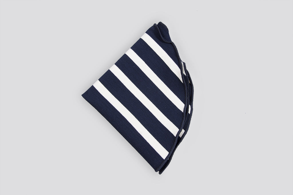 Alexander Olch Pocket Round Stripes Navy/White