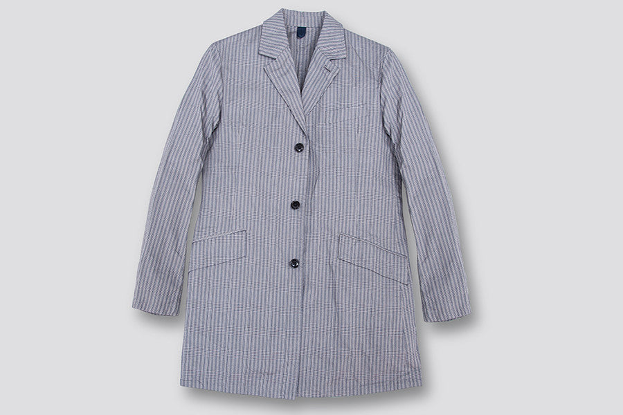 Ts(s) 5 Button Long Jacket Grey