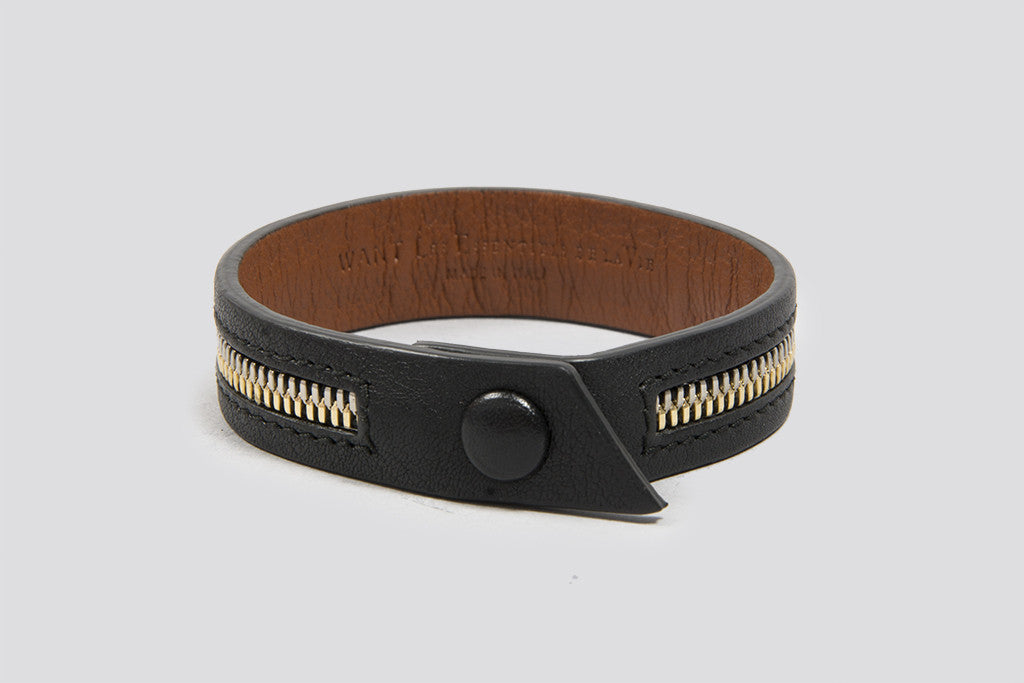 WANT Les Essentiels De La Vie Tambo Zip Bracelet Black/Brown