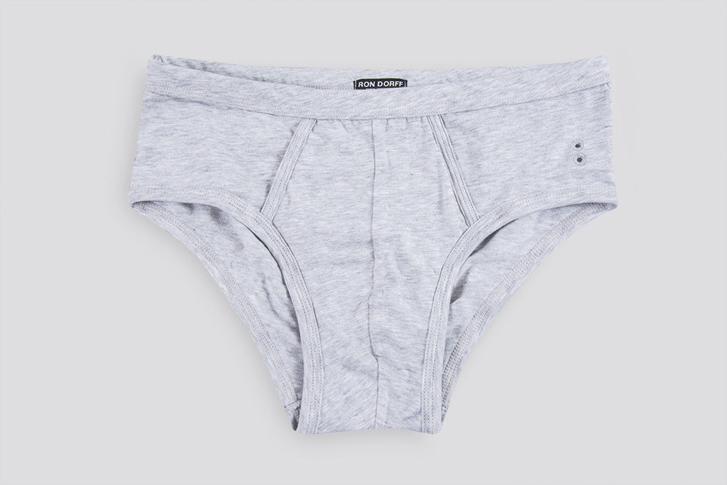 Ron Dorff Y-Front Briefs Heather Grey