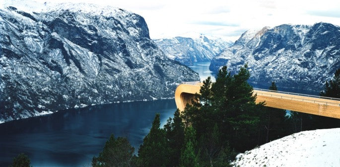 High Above The Sky The Aurland Lookout, Norway