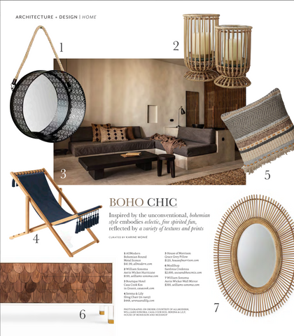 westside digs magazine august 2018 edition article boho chic featuring modshop's sardinia credenza