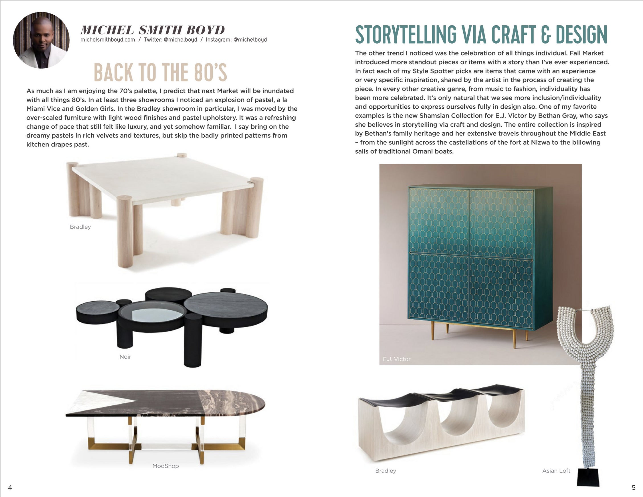 high point market style report featuring michel smith boyd pick of modshop's marseille coffee table