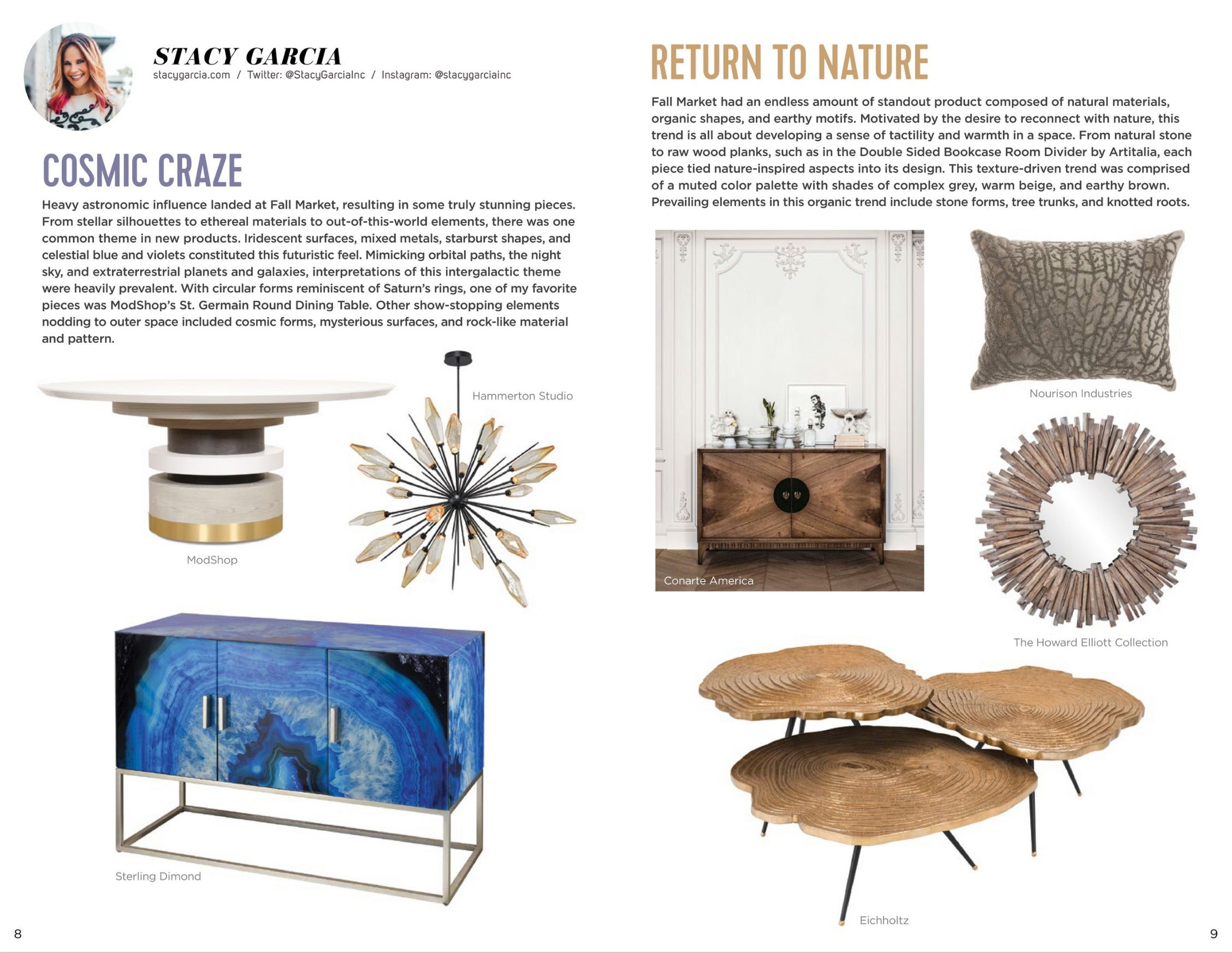 high point market style report featuring stacy garcia pick of modshop's st. germaine dining table
