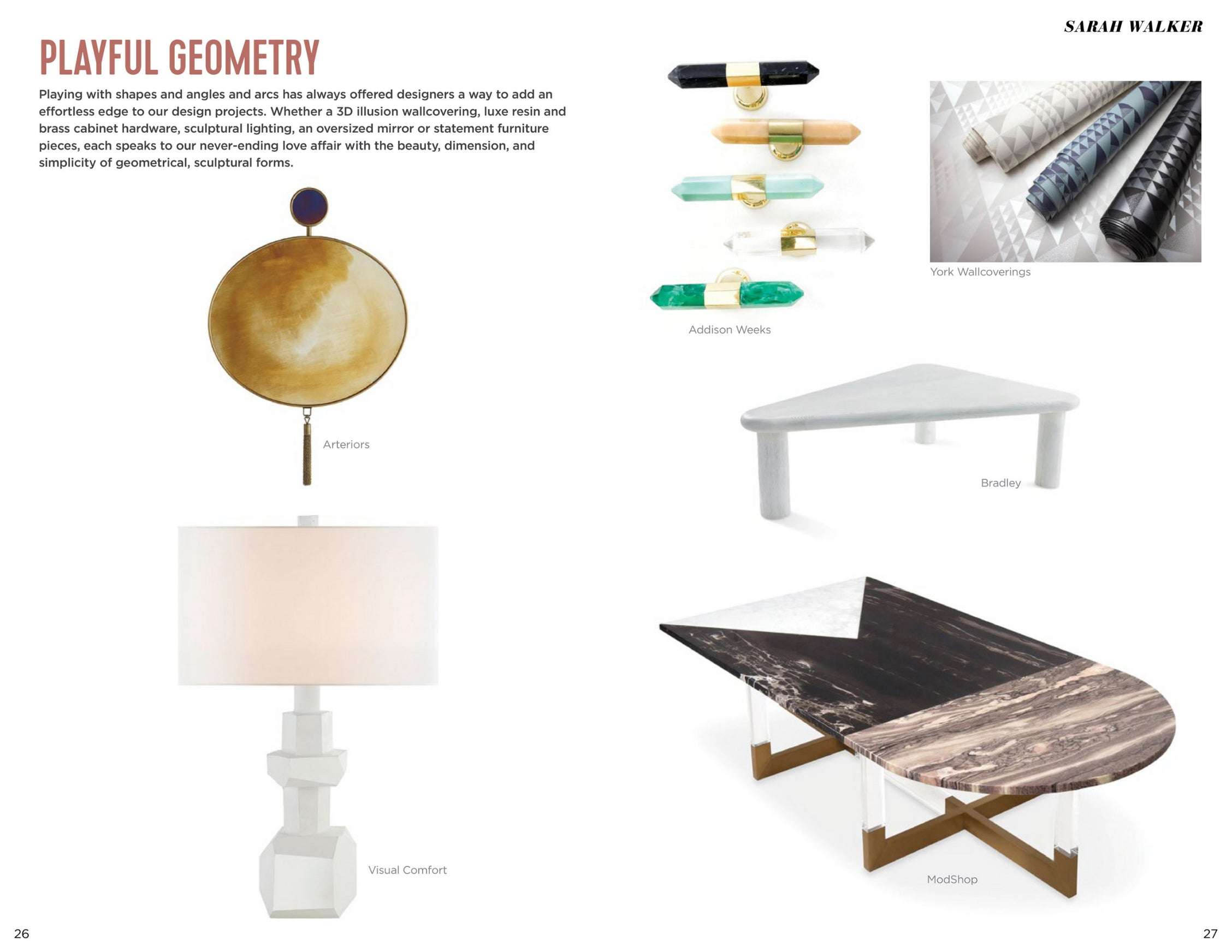 high point market style report article playful geometry by stacy garcia featuring modshop's marseille coffee table