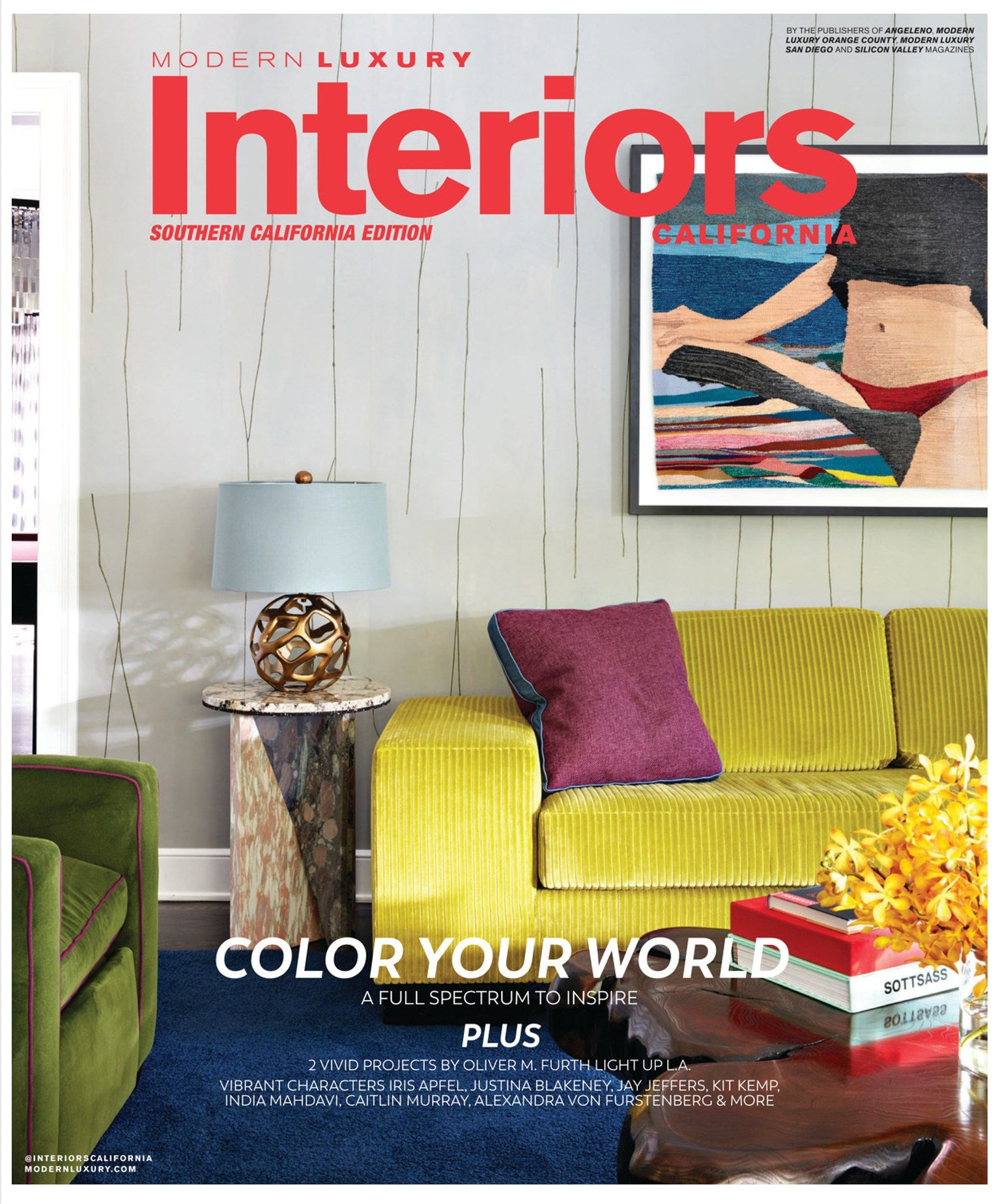 modern luxury interiors magazine coverpage