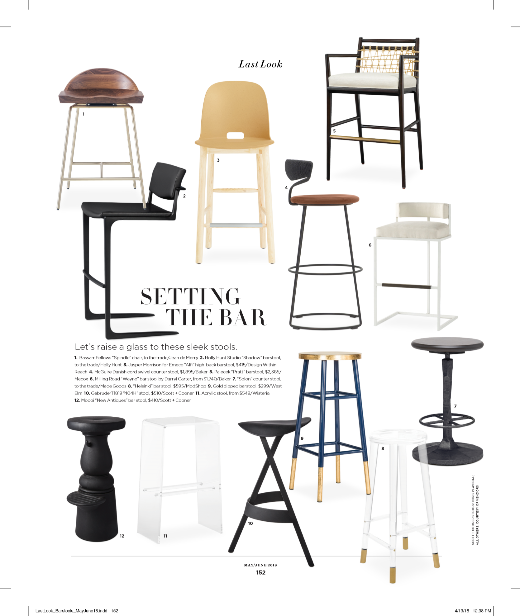 d home magazine may june 2018 article setting the bar featuring modshop's helsinki bar stool