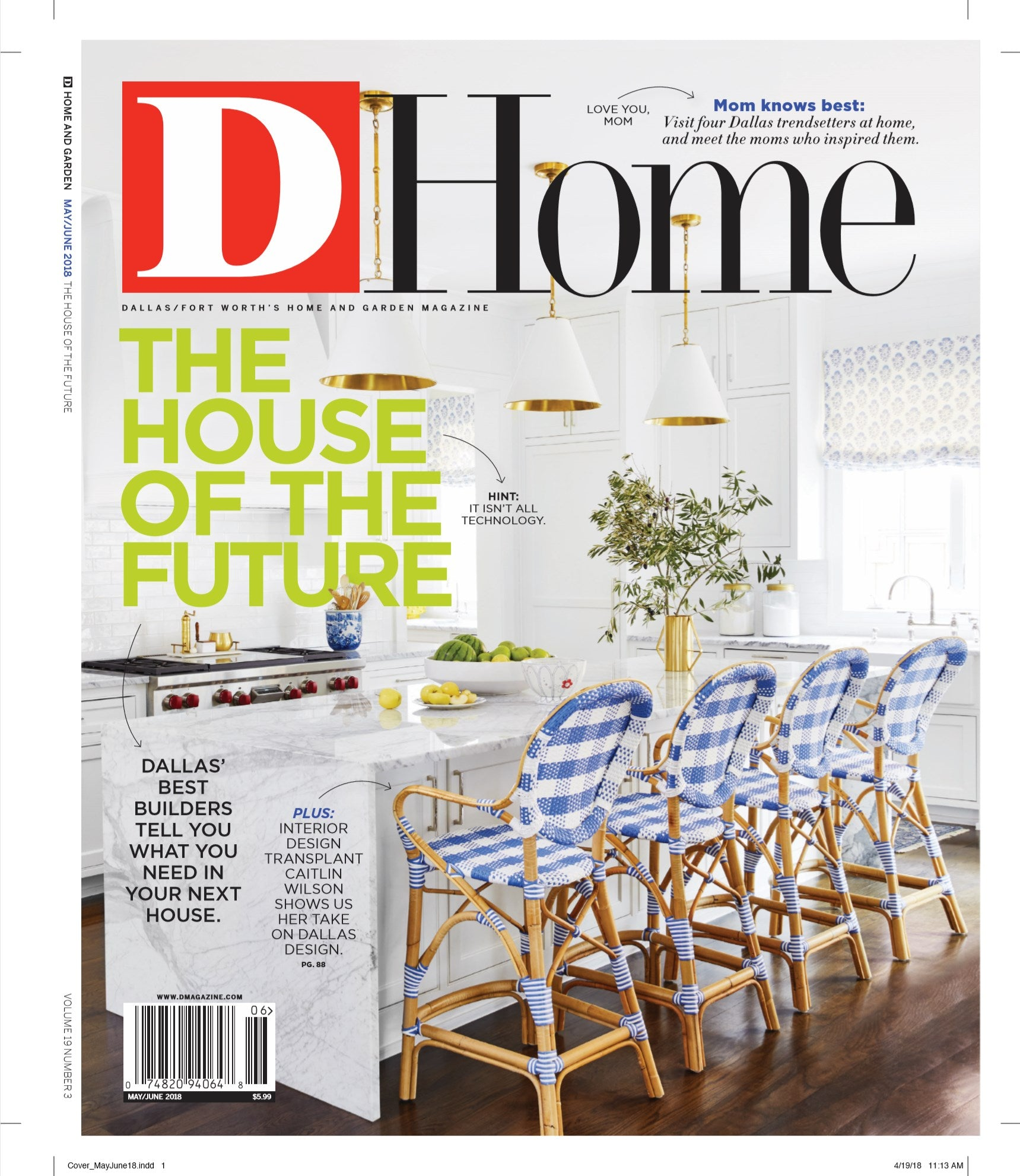 d home magazine may june 2018 cover