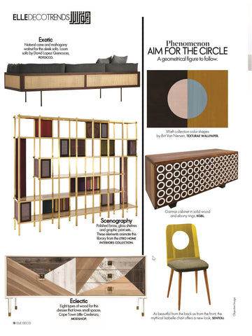elle decoration magazine june 2018 edition trends article featuring modshop's cape town petite credenza