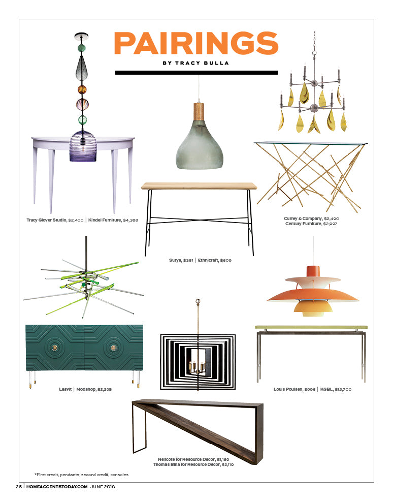 home accents magazine june 2018 edition article pairings by tracy bulla featuring modshop's naples credenza in hunter green
