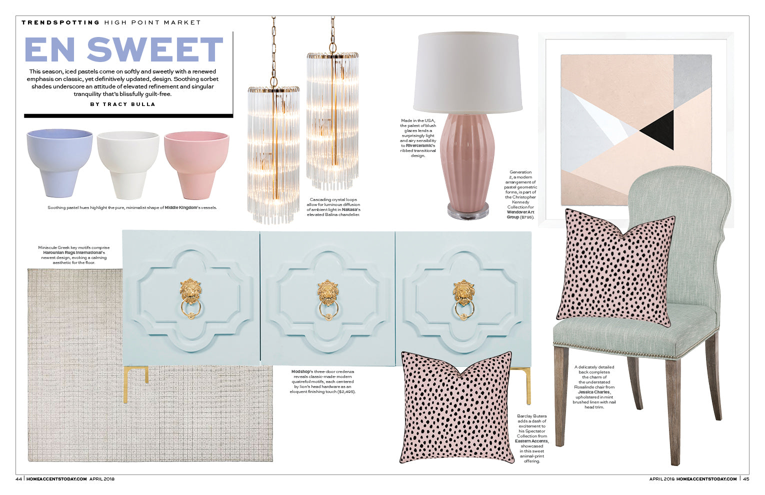 home accents today magazine article trendspotting features modshop's marrakesh three door credenza with brass lion head knockers