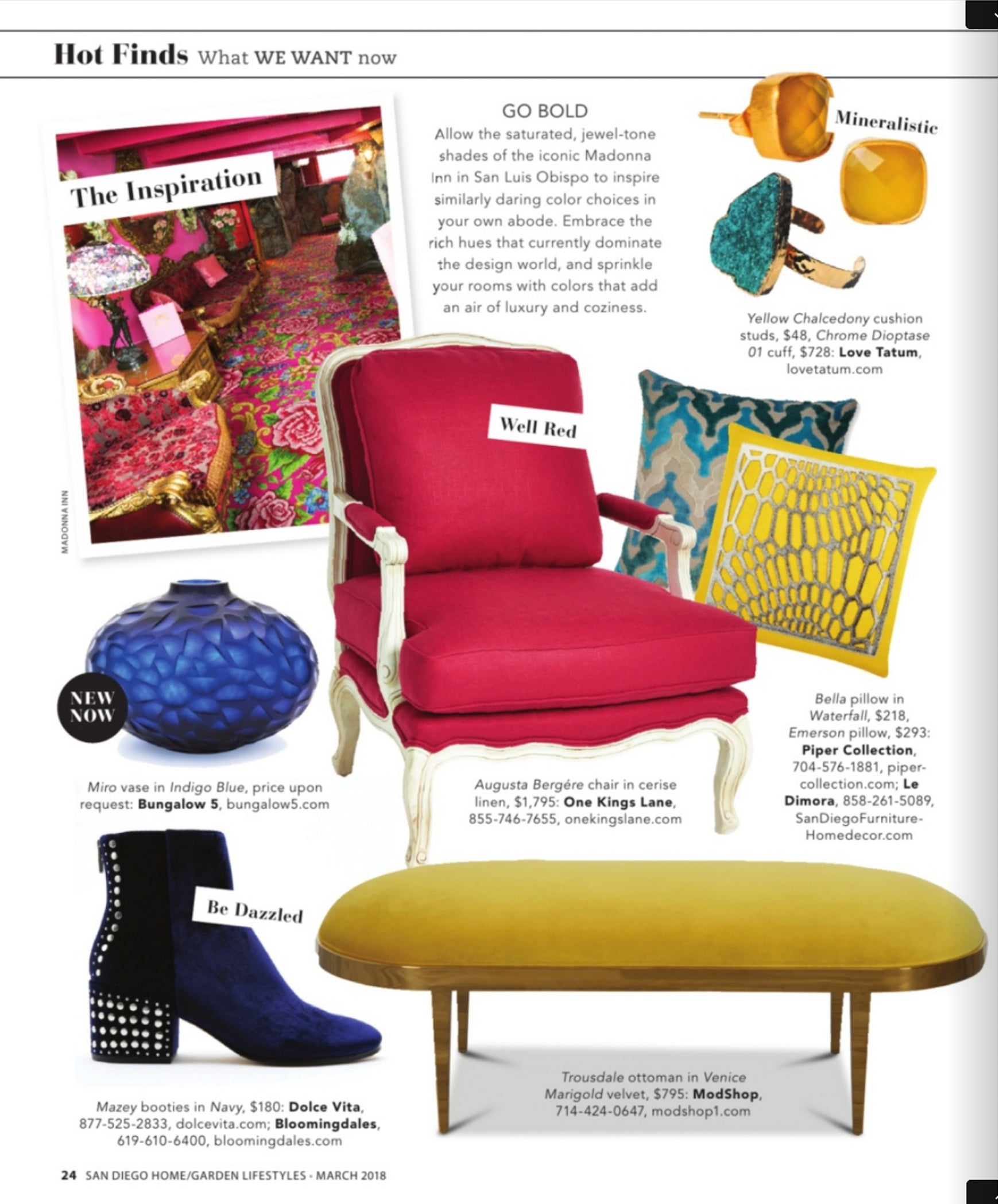 san diego home garden lifestyles magazine article hot finds features modshop's trousdale ottoman in venice marigold velvet