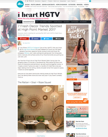 hgtv.com article 7 fresh decor trends spotted at high point market 2017