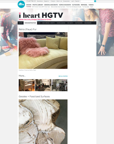 htgv.com article featuring modshop's mongolian fur throw pillows