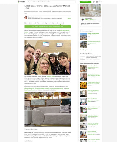 houzz.com 6 hot decor trends at las vegas market 2018 article featuring modshop's eden rock sofa in linen