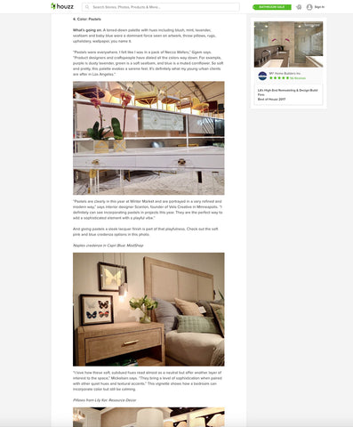 houzz.com article showcasing modshop's capri blue naples credenza