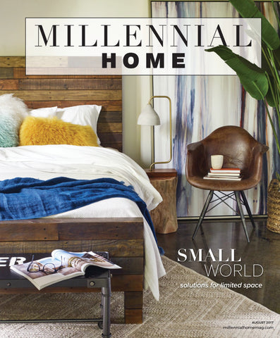 millennial home magazine cover for august 2017