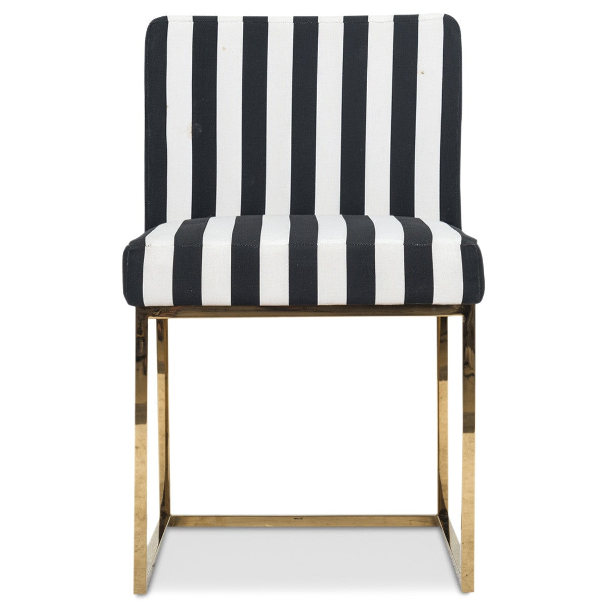 Marvelous 007 Dining Chair In Black And White Stripes
