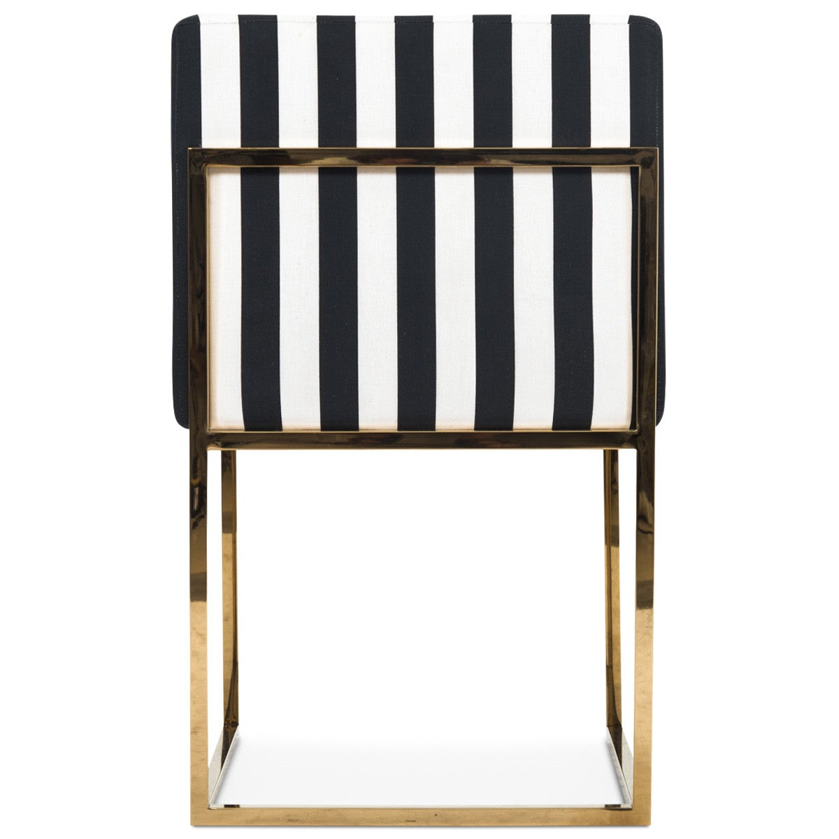 007 Dining Chair in Black and White Stripes - Modern Black And White Striped Dining Chair - ModShop