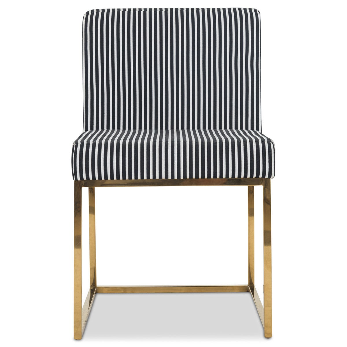 Beau 007 Dining Chair In Black And White Stripes