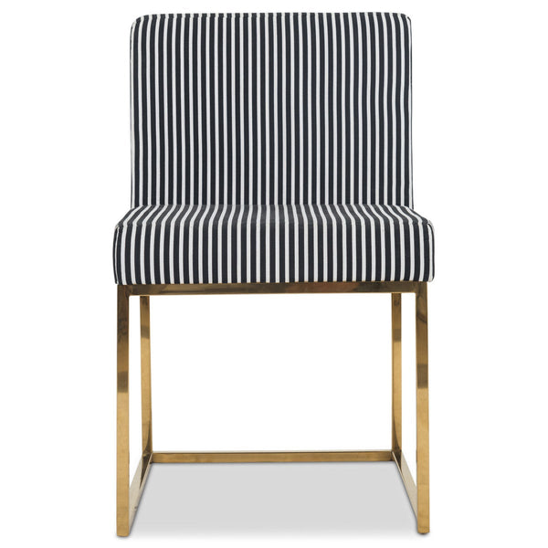 007 Dining Chair in Black and White Stripes