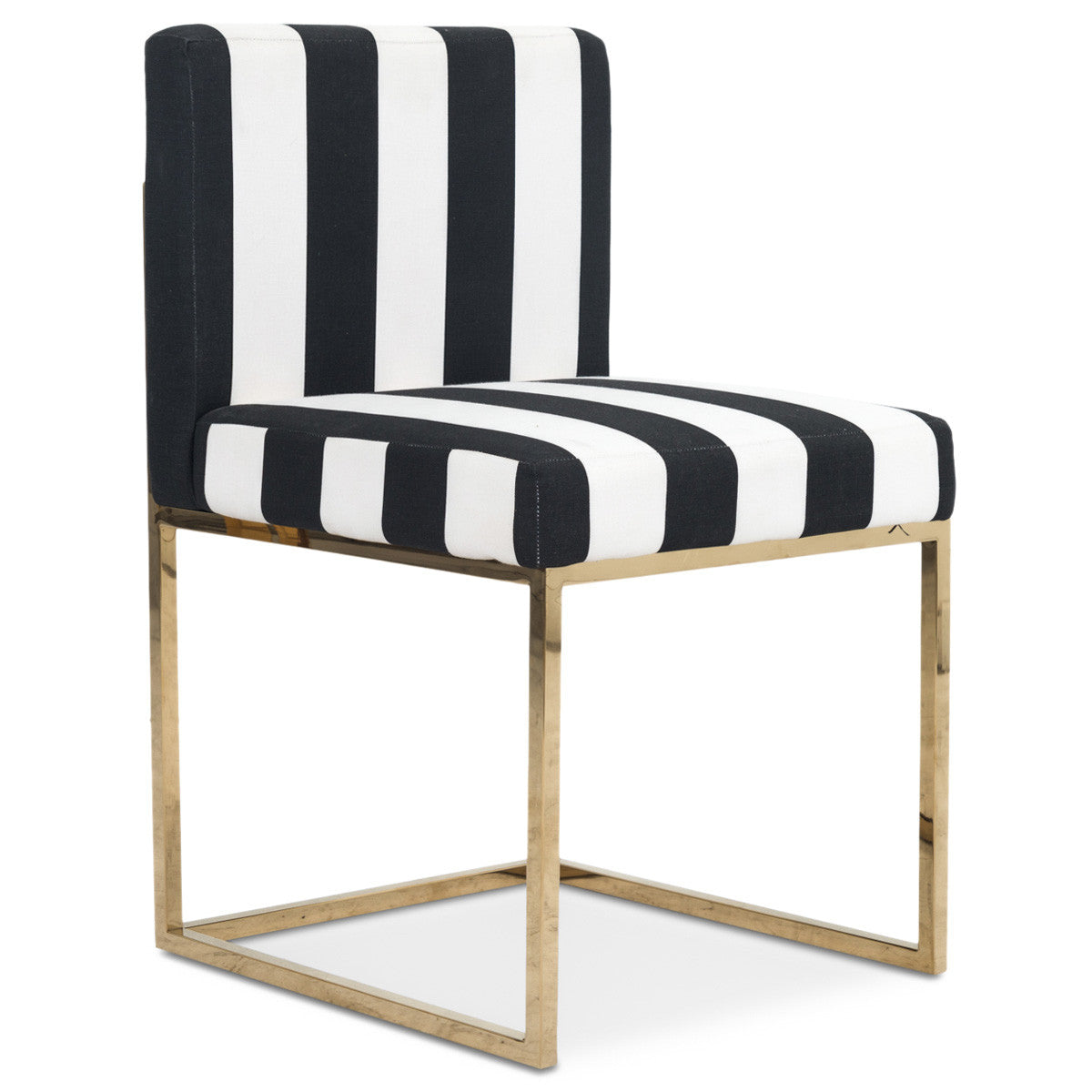 007 Dining Chair in Black and White Stripes - ModShop1.com